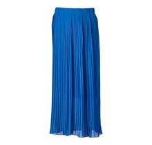 Dames plisse rok kobalt lang