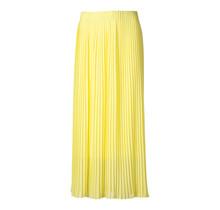 Dames plisse rok geel lang