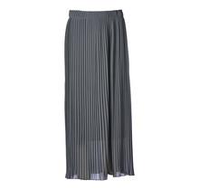 Dames plisse rok donkergrijs lang