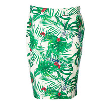 Dames milano rok kort Groene bladeren