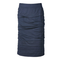 Dames rok laagjes Marine/ stip