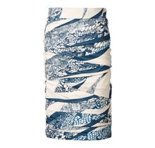 Dames rok laagjes Beige/print