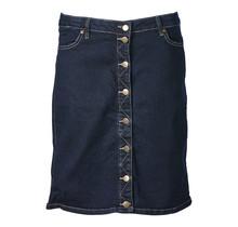 Dames rok denim met knopen kort