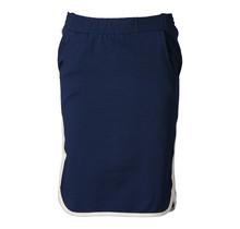 Dames rok terry marine/brede offwhite randen