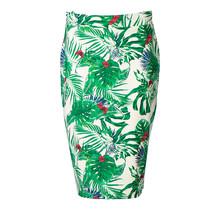 Dames milano rok groene bladeren - lang