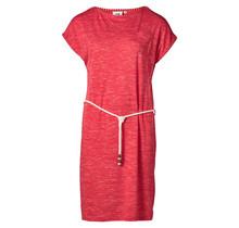 Dames jurk hibiscus framboos melange