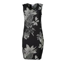 Dames milano jurk zm kort Zwart/off white