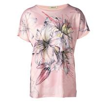 Dames shirt met bloem roze