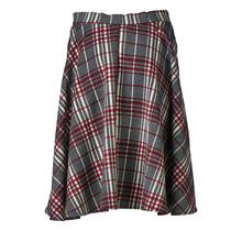 Dames rok a-lijn geblokt rood