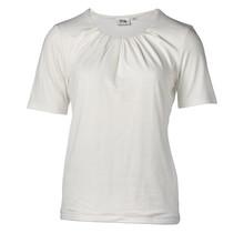 Dames shirt plooien offwhite