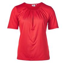 Dames shirt plooien Rood