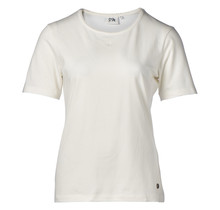 Dames shirt basic picot offwhite