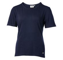 Dames shirt basic picot marine