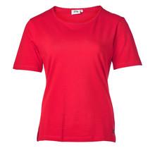 Dames shirt basic Rood korte mouw