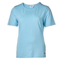 Dames shirt basic picot licht blauw