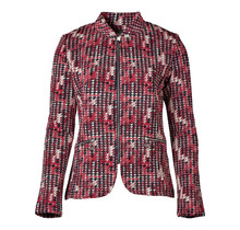 Dames vest rits Rood/print
