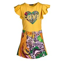 Meisjes set love tijger geel
