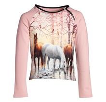 Meisjes trui paarden roze