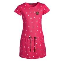 Meisjes jurk rood anker/hart