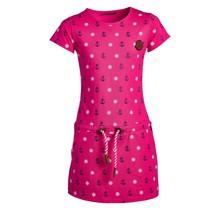 Meisjes jurk fuchsia anker