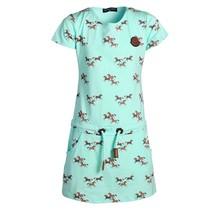 Meisjes jurk Mint met bruine paarden