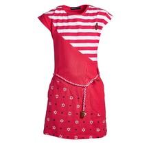 Meisjes jurk dubbele print rood