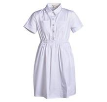 Meisjes jurk  wit katoen