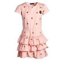 Meisjes jurk laagjes roze tijger