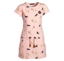 Meisjes jurk  paarden en rozen roze