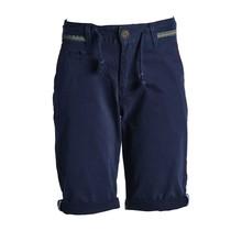 Jongens korte broek marine met detail