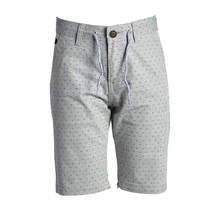 Jongens korte broek grijs met kleine print