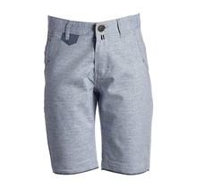 Jongens korte broek blauw grijs met marine accent
