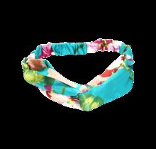 Haarband turquoise bloemenprint