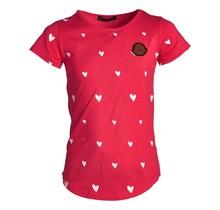 Meisjes shirt hartjes rood km