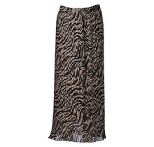 Dames plisse zebra donker creme kort