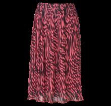Dames plisse rok zebra donkerroze kort