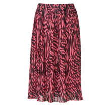 Dames plisse zebra donkerroze kort