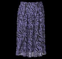 Dames plisse zebra paars kort