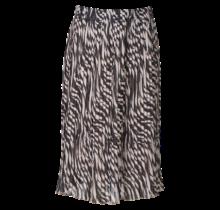 Dames plisse zebra creme kort