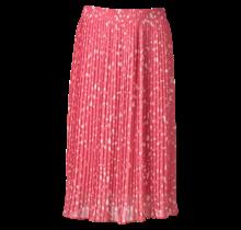 Dames plisse stippen roze kort