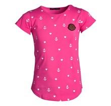 Meisjes shirt ankers roze km