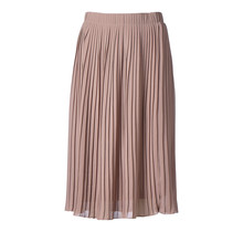Dames plisse rok oud roze kort