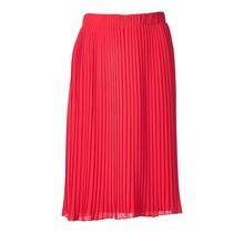 Dames plisse rok rood kort