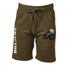 Jongens korte broek groen met  tractor groen/rood