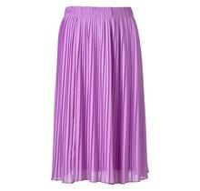 Dames plisse rok lila kort