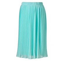 Dames plisse rok  licht kobalt kort