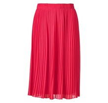 Dames plisse rok  vel rood kort