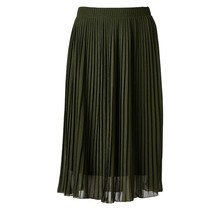 Dames plisse rok donkergroen kort
