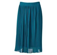 Dames plisse rok donker turquoise