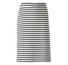 Dames milano rok off white/ marine brede streep - kort